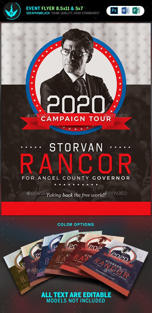 Political Flyer Template - Corporate Flyers