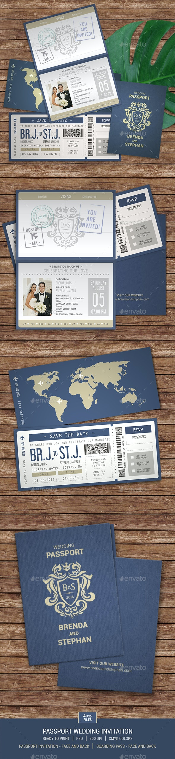 Passport Wedding Invitation - Weddings Cards & Invites