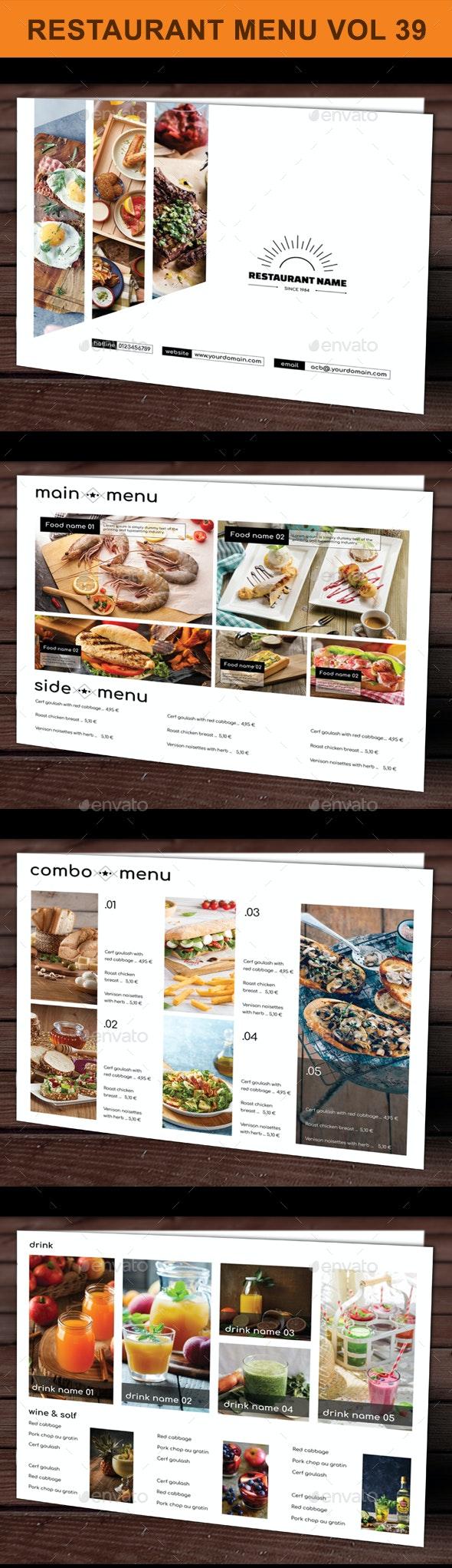 Restaurant Menu vol 39 - Food Menus Print Templates