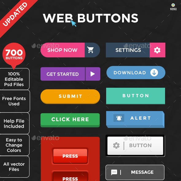 Web Buttons - 700 Buttons - Updated!!!