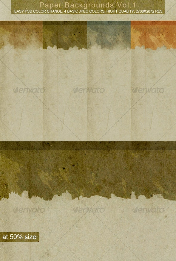 Paper Backgrounds VOL.1 - Backgrounds Graphics