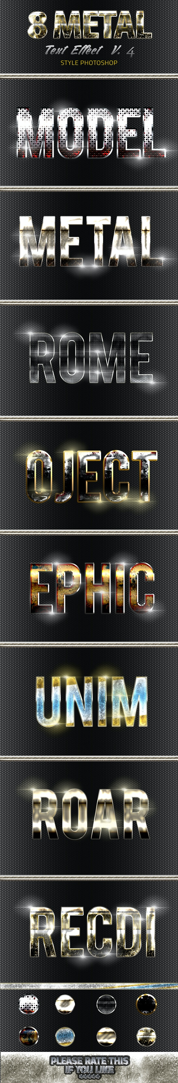 8 Metal Text Effect v4 - Text Effects Styles