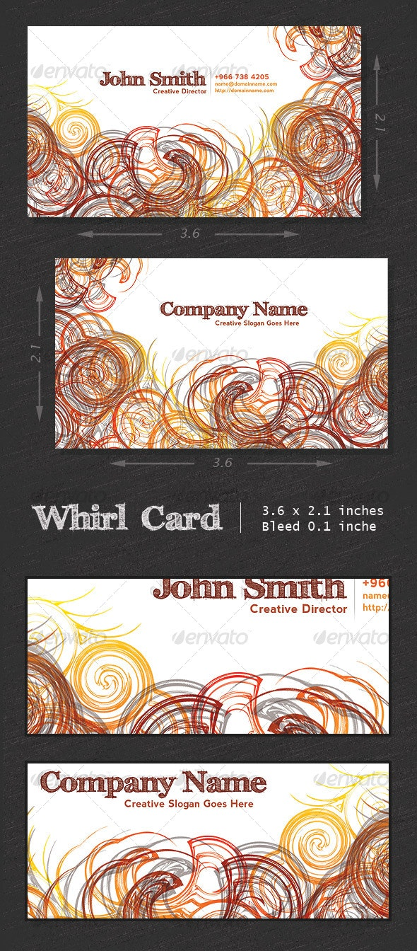 Whirl  Card - Creative Business Cards