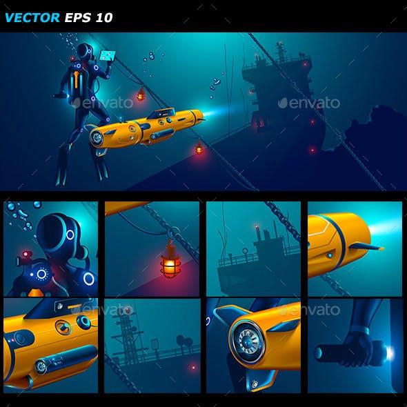 Underwater Autonomous Robot Exploration Sea Floor