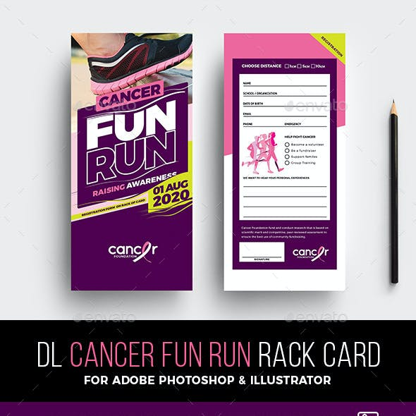 DL Cancer Benefit Rack Card Template