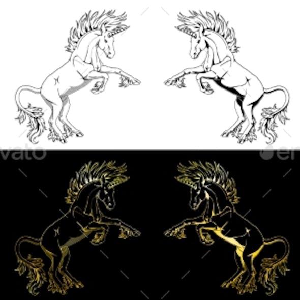 Unicorn Contour Line