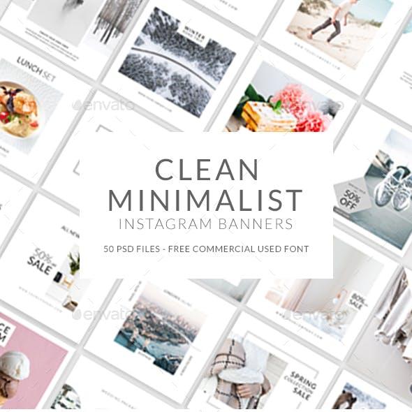 Clean Minimalist Instagram Banner