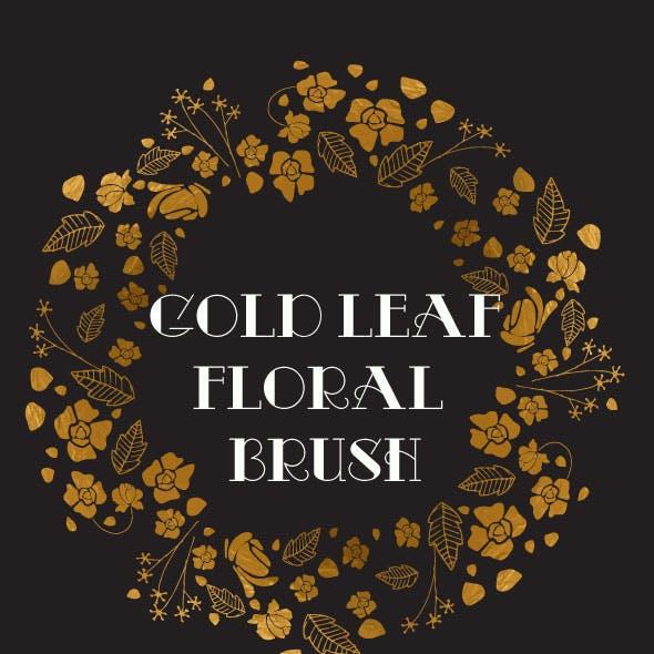 Gold Floral Brushes