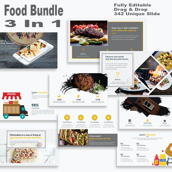 Food Bundle 3 in 1 PowerPoint Template