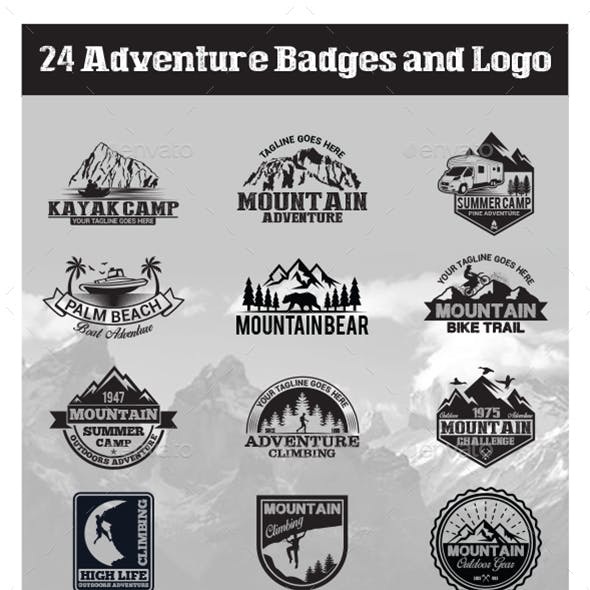 24 Adventure Badges and Logo
