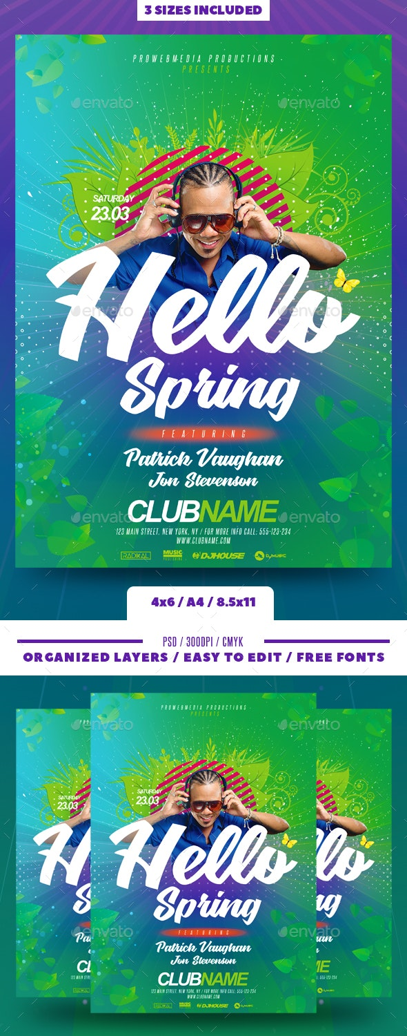 Spring / Summer Flyer - Clubs & Parties Events