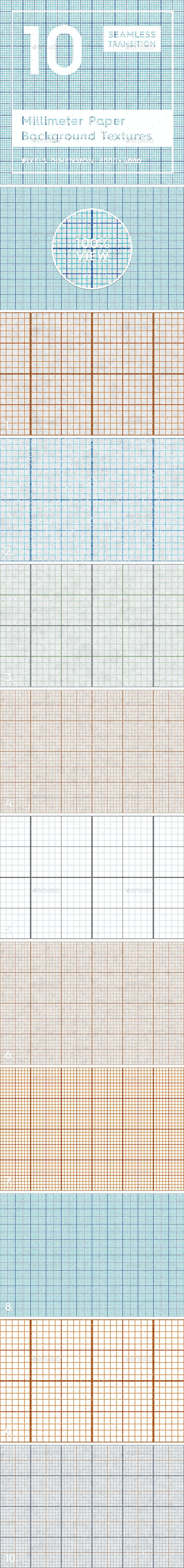 10 Millimeter Paper Background Textures - Tech / Futuristic Backgrounds