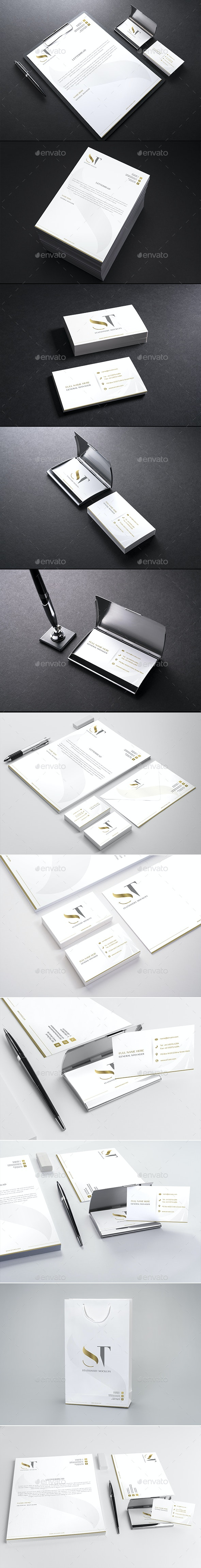 Realistic Branding - Stationery - Corporate ID Mockups Set2 - Stationery Print