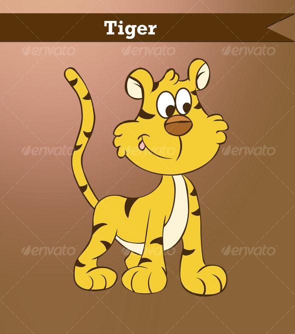 Vector Tiger - Animals Characters