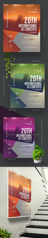 DJ Concert Flyer/Poster - Concerts Events