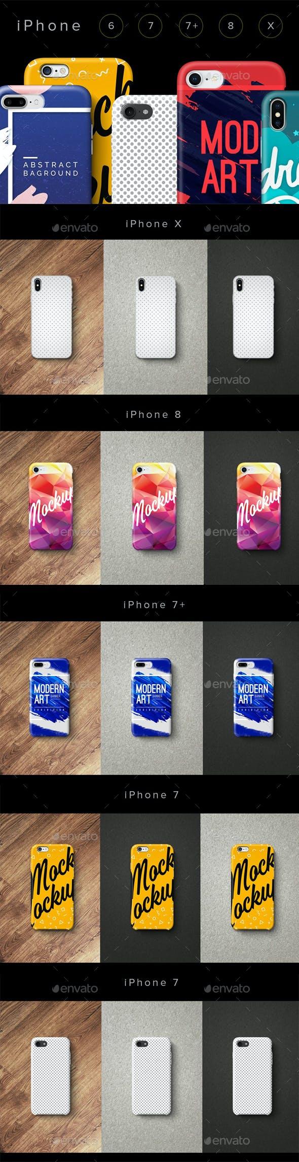 Сases Phone 6, 7, 7plus, 8, X Set
