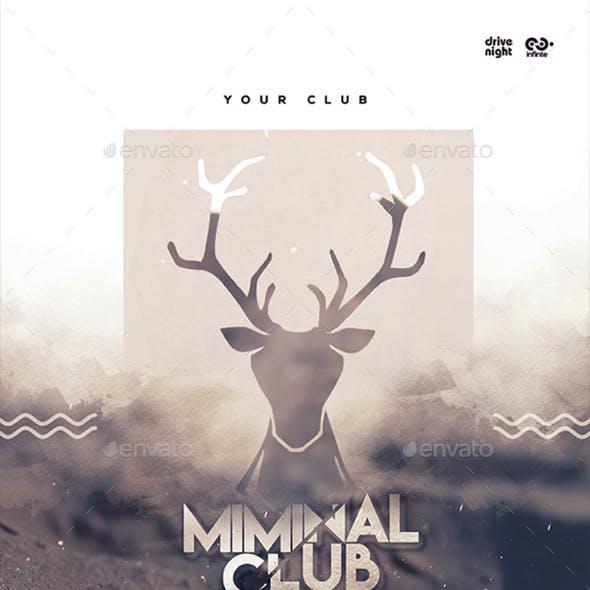 Minimal Club Poster / Flyer
