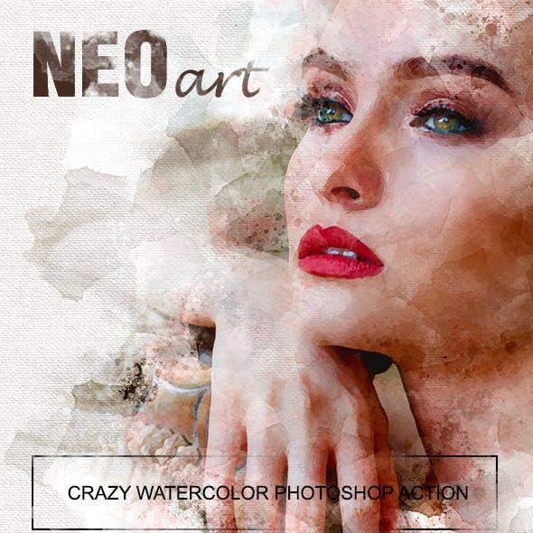 NEOart crazy watercolor PS action
