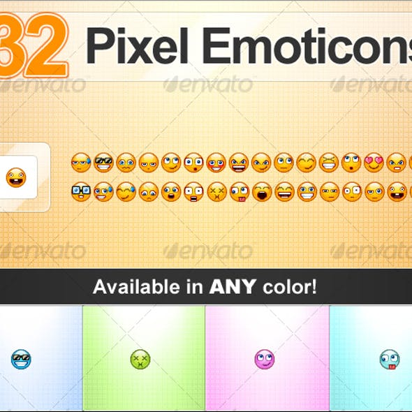 Pixel Emoticons