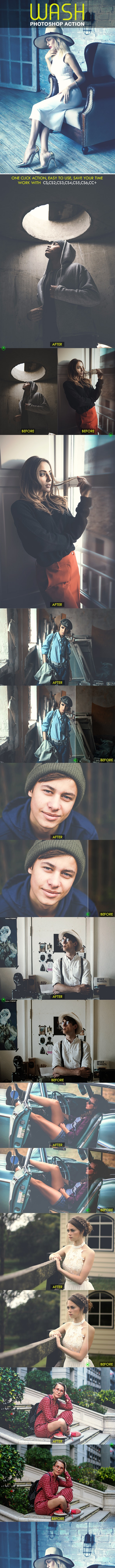 Wash Photoshop Action - Photo Effects Actions