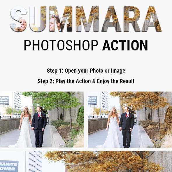 SUMMARA | Summer Effect Photoshop Actions