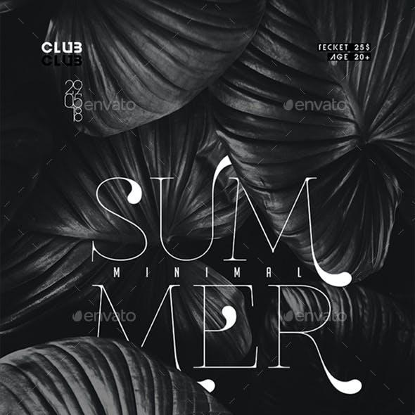 Minimal Summer Poster / Flyer