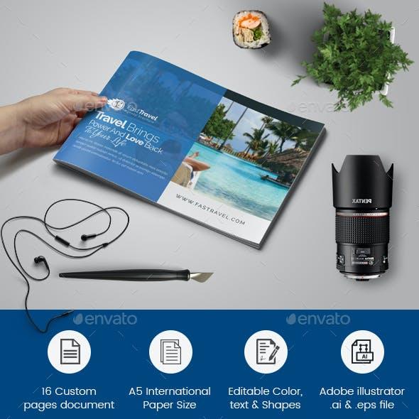 Travel Brochure Template Graphics Designs Templates