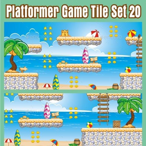 Platformer Game Tile Set 20