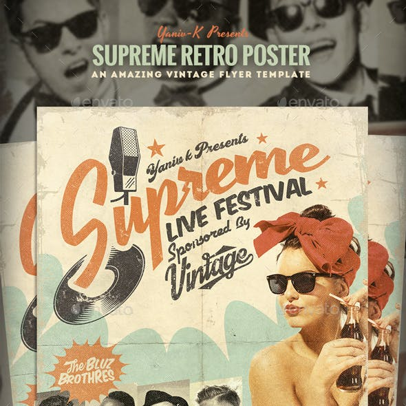 Supreme Retro Flyer Template