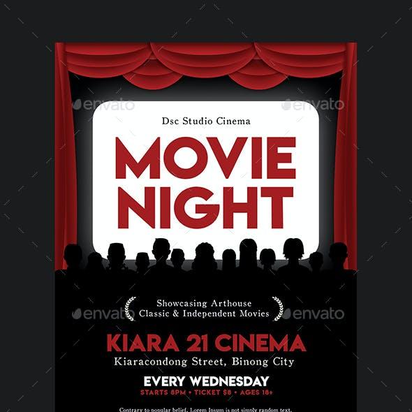 Movie Night Flyer