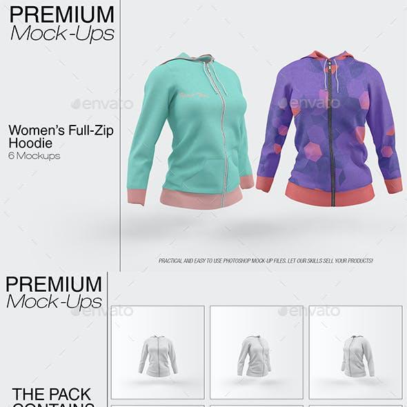 Women's Full-Zip Hoodie Mockup