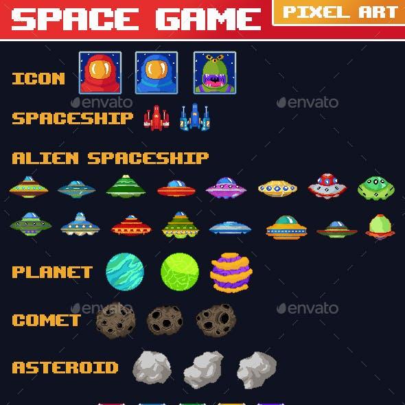 Space Game Pixel Art