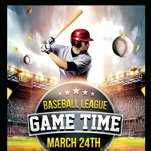 Baseball Game Day Flyer Template