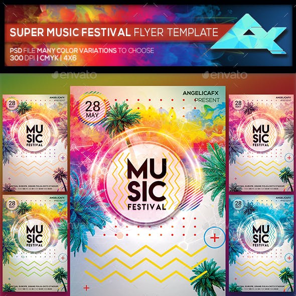 Super Music Festival Flyer Template