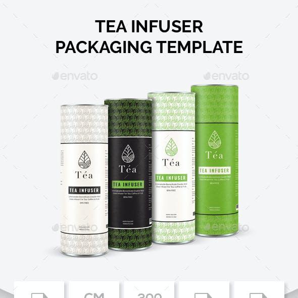 Tea Infuser Packaging Template