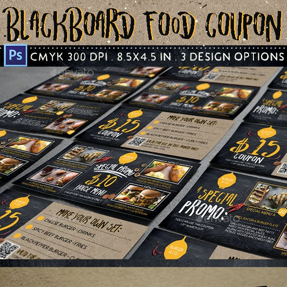 Blackboard Food Coupon