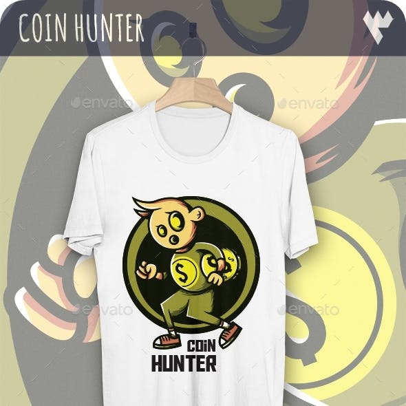 Dollar Coin Hunter - T-Shirt Design