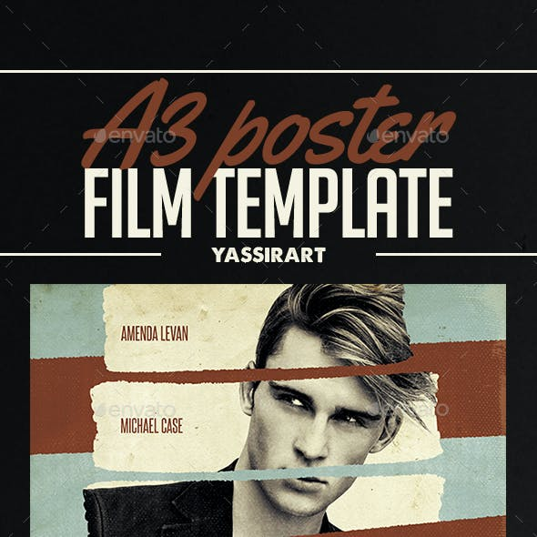 A3 Film Poster Template