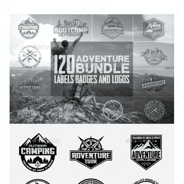 120 Adventure Badges and Logo Bundle