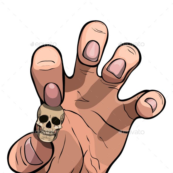 Hand with Skull