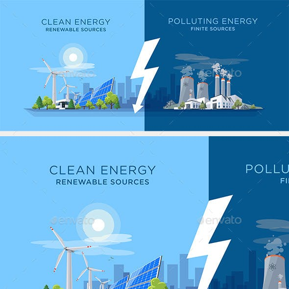 Comparing Clean and Polluting Energy Power Stations