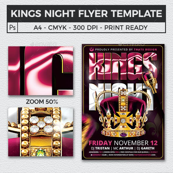 Kings Night Flyer Template