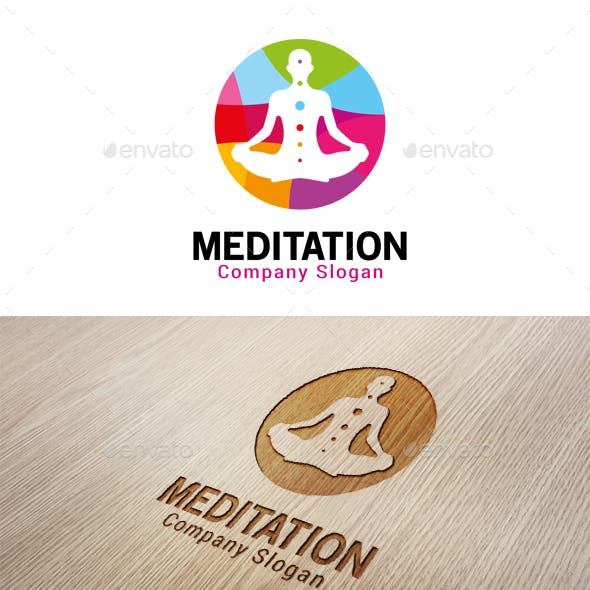 meditation logo graphics designs templates from graphicriver meditation logo graphics designs