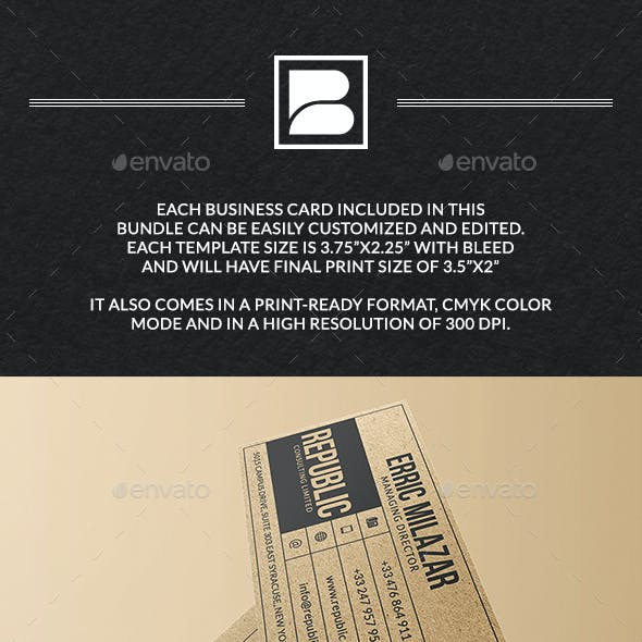 Business Cards Bundle - 5 In 1