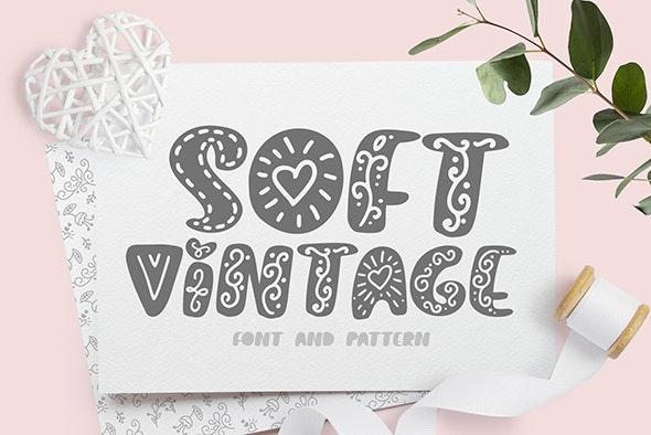 Soft vintage Scandinavian Decor Font - Holiday Decorative