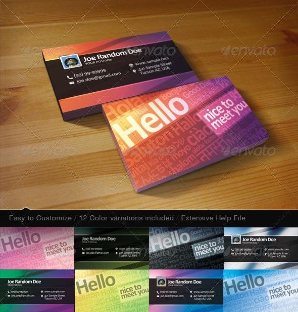 Hello Card - Creative Business Cards