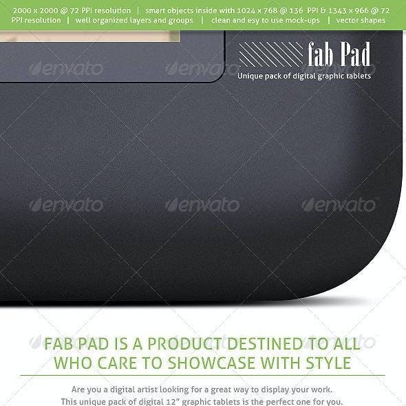 Fab Pad  - Digital Graphic Tablets  Mock-ups