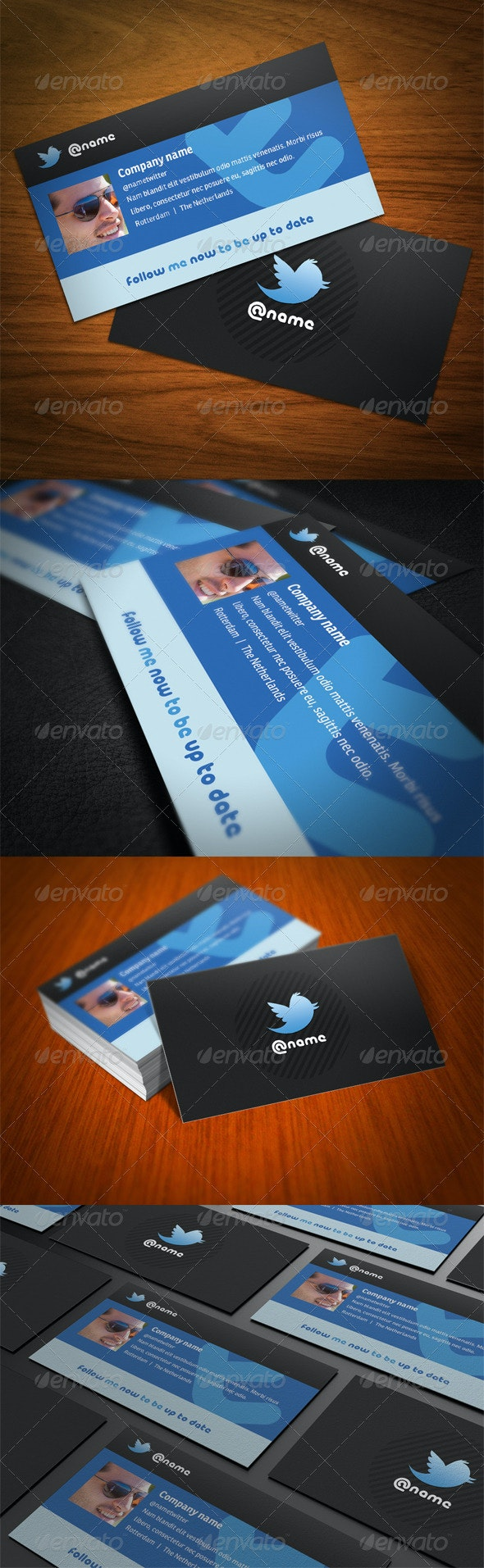 Twitter Business Card - Corporate Business Cards