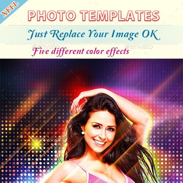 Gorgeous Stage Effect Photo Template