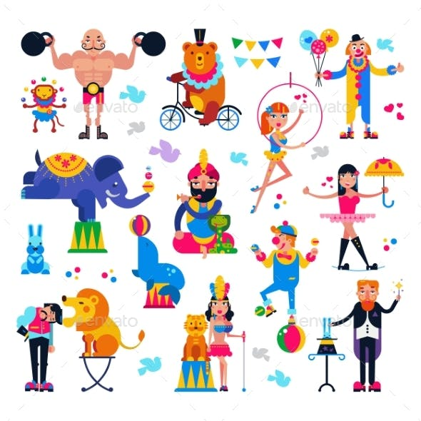 Circus People Vectors